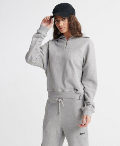 Superdry Damen Edit Sweat Trainingstop Mit Trichterkragen Aus Loopback-Gewebe