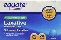 2x Equate Laxative Maximum Strength Sennosides 25 Mg 24 Pills Each 48 Total