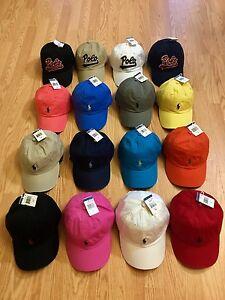 361a912eeb3 POLO RALPH LAUREN BASEBALL CAP HATS PONY LOGO ONE SIZE ADJUSTABLE ...