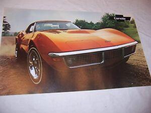 1971-Chevy-Corvette-Original-Dealer-Sales-Poster-Brochure-NOS