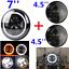 7-034-LED-moto-Feu-Avant-Phare-headlight4-5-034-anti-brouillard-Passing-Feux-Pour-Harley miniature 5