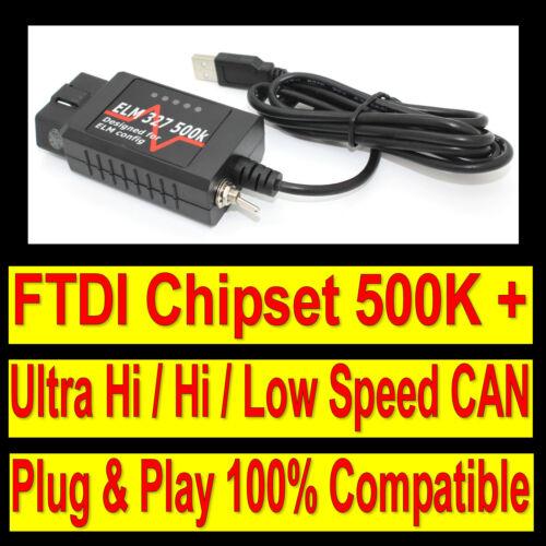 Fits Ford Car Diagnostic Scanner USB OBD OBD2 CAN  ELMconfig Forscan