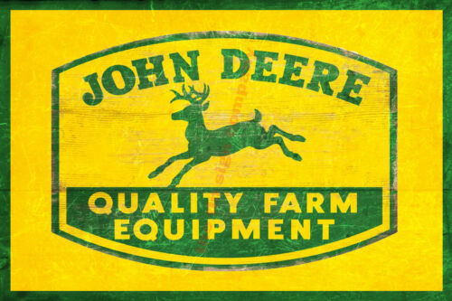 GREAT FOR BAR JOHN DEERE FARM EQUIPMENT WALL SIGN MAN-CAVE GAMES ROOM ETC