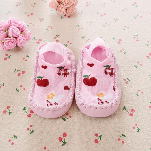 New Toddler Baby Newborn Anti-slip Floor Socks Shoes Boots Slipper Prewalker KW
