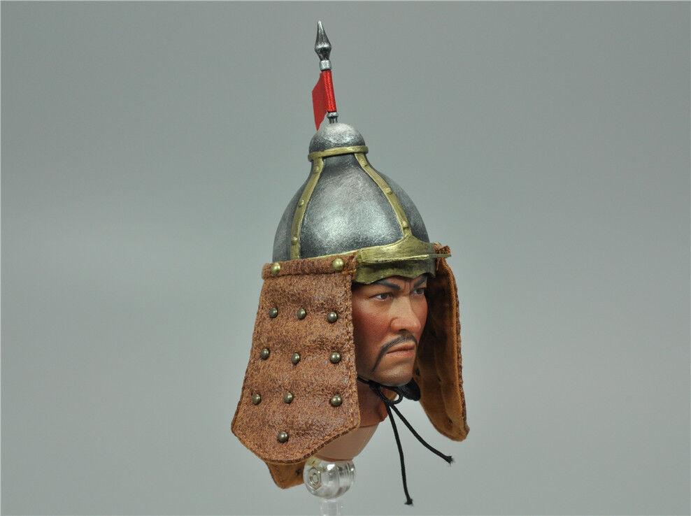Helm und gorget für kongling pavillon klg-r014 mongolische soldaten 1   6 abb.