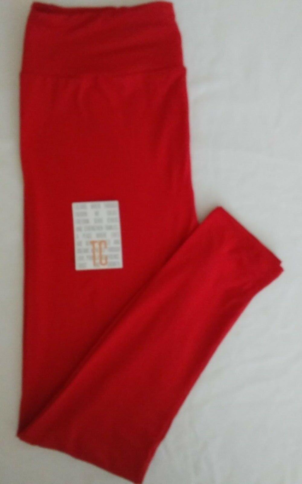 BUTTERY SOFT LULAROE   SIZE TC   UNICORN SOLID RED LEGGINGS   LAST PAIR