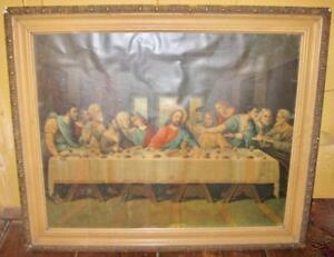 The-Last-Supper-Alternate-Variant-Vintage-Art-Print-By-Unknown-Artist-Jesus-O