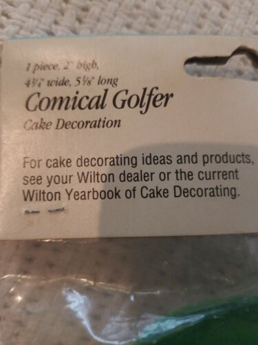 Vtg Wilton Comical Golfer Cake Topper Decoration Blowing Ball into hole NOS