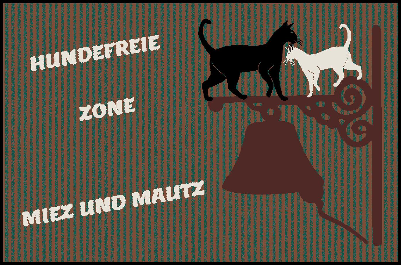 Fußmatte mit Namen Napfunterlage Katzenmatte  90x60 cm  Design 27180430 | Zürich