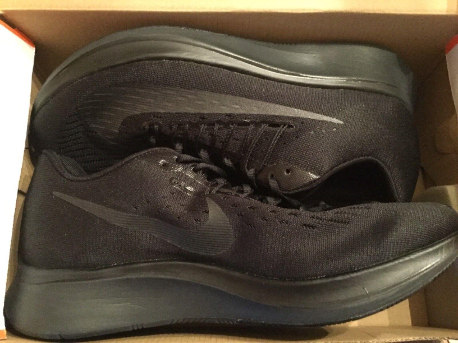 New Nike Mens Zoom Fly Run Running shoes 880848-003 sz sz sz 10 All Black 3475cf