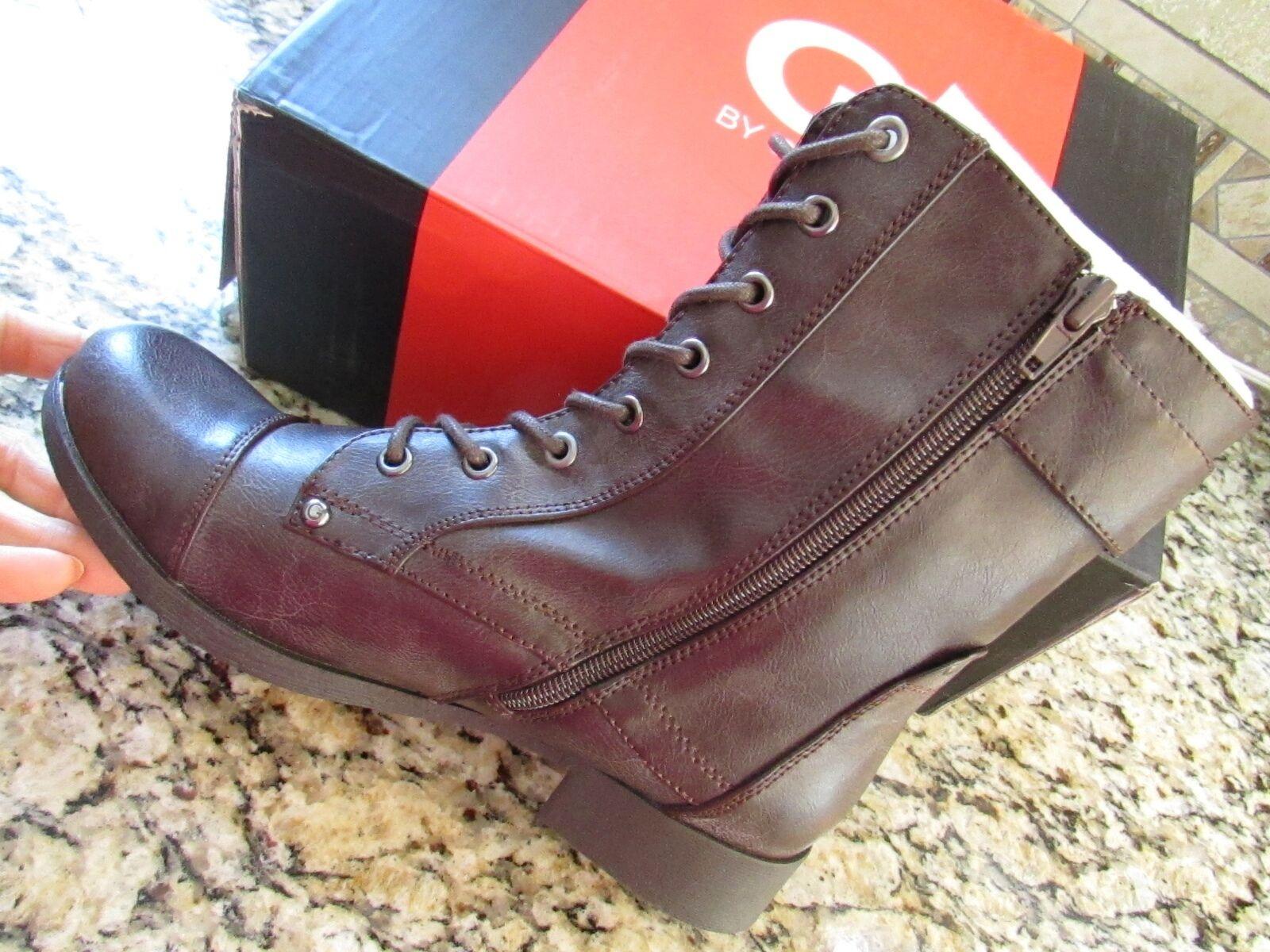 Nuevo Guess brryan marrón Tobillo Tobillo Tobillo Botines botas De Cuero Para Mujer 7.5 libre Envío Gratis  100% precio garantizado