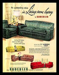 1951 Kroehler Furniture Manufacturer Vintage Print Ad Living Room Luxury Decor Ebay