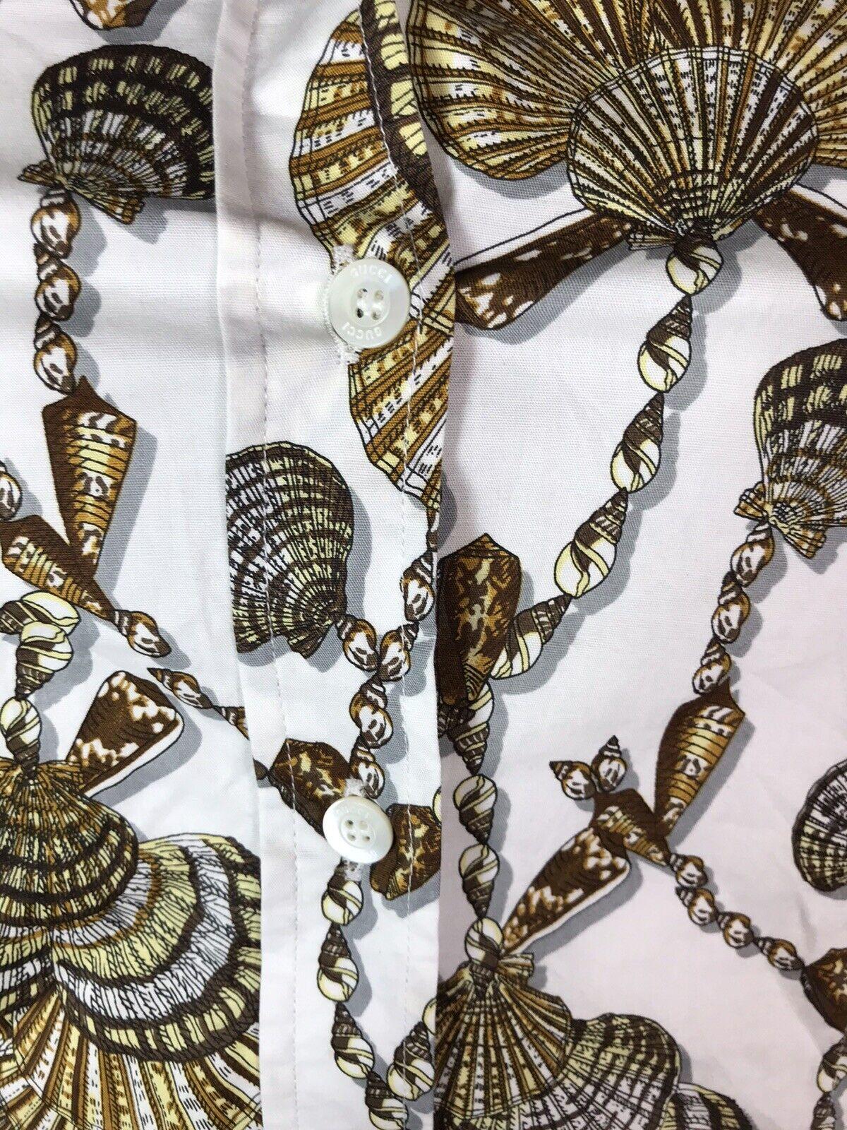 Rare Vtg Gucci White Seashell Print Top S - image 7