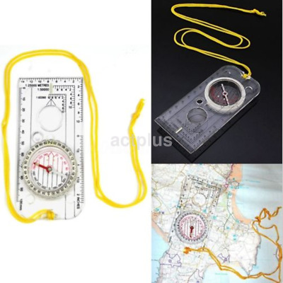 New Camping Hiking Compass Magnifying Map Reading Orienteering Tools FR