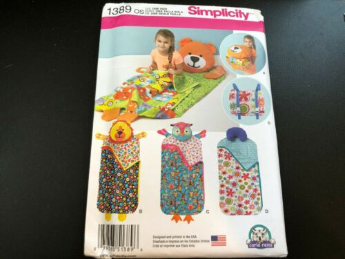 Neck Roll Themed Simplicity Pattern 1389 ~ Nap Pad Packs ~ Bear Owl Lion