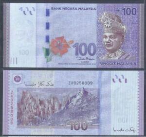 Malaysia-RM100-12th-Series-1st-Replacement-Zeti-Paper-UNC-ZA-0258009
