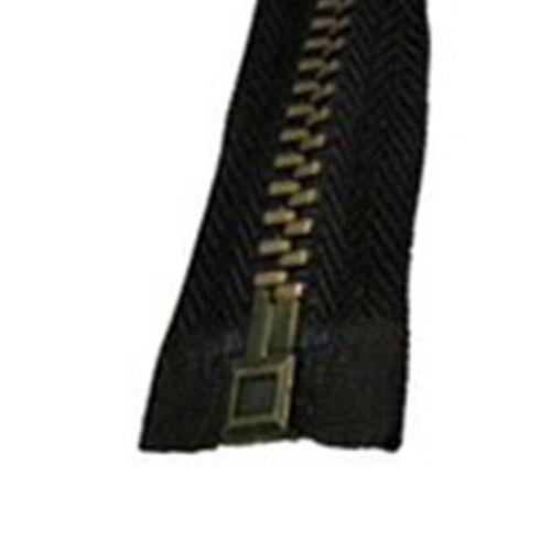 28 Inch Brass-Separating Jacket Zipper Teeth Metal Heavy-Duty Zippers Coats