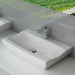 Das Bild Wird Geladen DESIGN KERAMIK WASCHTISCH WASCHBECKEN WASCHPLATZ  BADEZIMMER GASTE WC