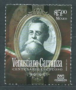 Mexico Mail 2020 Yvert 3207 MNH Venustiano Carranza - Character