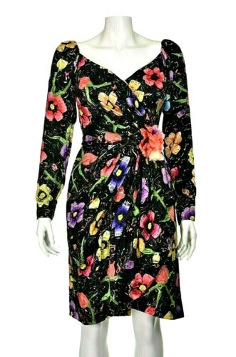 ARNOLD SCAASI Vintage Silk Floral Cocktail Party D