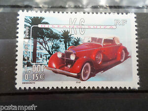 FRANCE-2000-timbre-3321-VOITURES-ANCIENNES-HISPANO-SUIZA-K6-neuf-CARS-VF-MNH
