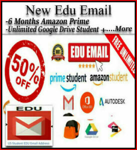 FAST-DELIVERY-NEW-Edu-E-mail-6-Free-Months-Amazon-Prime-Unlimited-Google-Drive