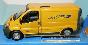 CARARAMA-HONGWELL-RENAULT-TRAFIC-VAN-DC100-1-43-POSTES-POSTE-PTT-BOX-ouvrants-a