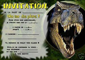Detalles De 5 O 12 Invitaciones De Cumpleaños Dinosaurios Ref 300