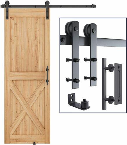 SMARTSTANDARD 5 FT Heavy Duty Sturdy Sliding Barn Door Hardware Kit 5FT Single