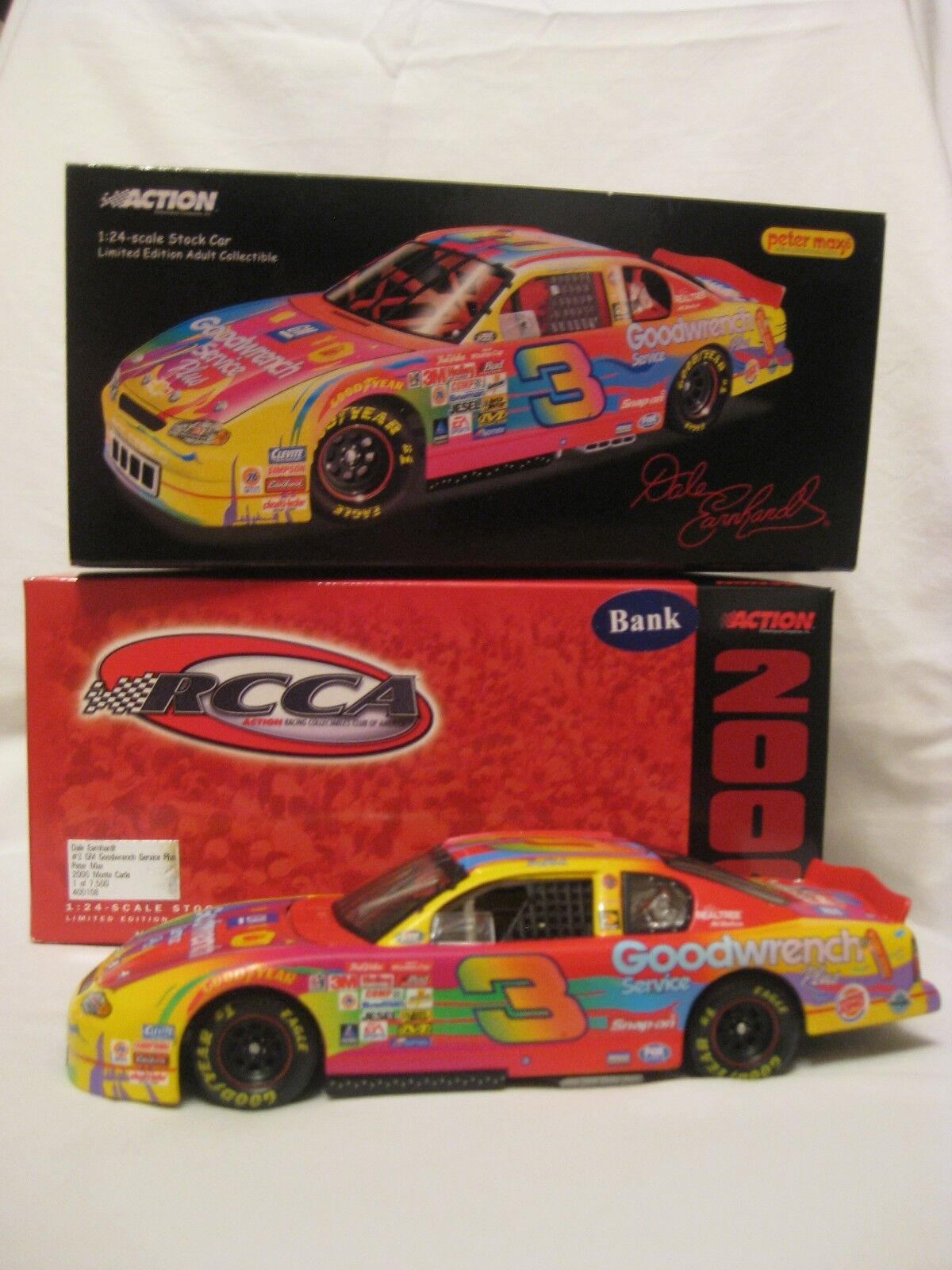 2000 Peter Max Goodwrench  3 Dale Earnhardt Sr 1 24 Diecast Collectible Car