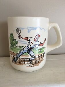 Details About Hipster Tennis Player Weight Lifter Oversized Coffee Cup Mug Ftd Vintage Sado