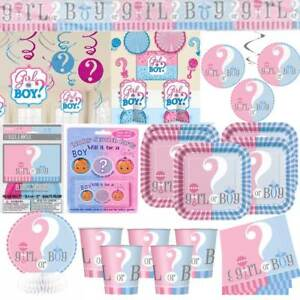 Gender-Reveal-Baby-Shower-Party-Decorations-Banners-Tableware-Blue-Pink-Unisex
