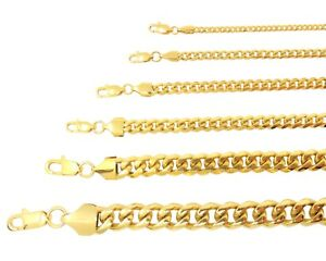 Miami-Cuban-Curb-Link-Chain-Necklace-or-Bracelet-18k-Gold-Plated-Stainless-Steel