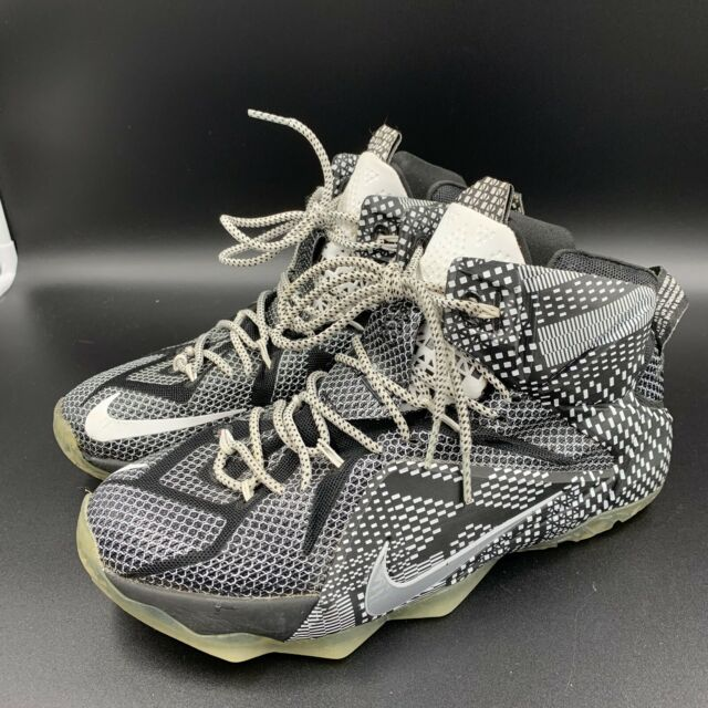 outlet store 0761f 85b47 Nike Lebron XII 12 BHM Size 9,5 Black History Month Basketball Shoes  718825-001