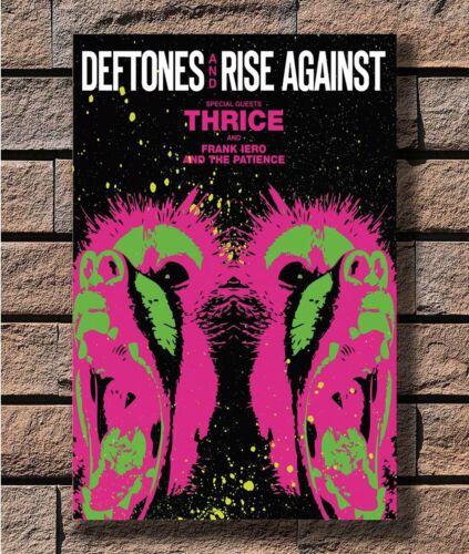 Art Poster 24x36 27x40 Deftones Rise Against Thrice Custom Rock T-1235