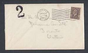CANADA 1930s 3X DOMESTIC 2C POSTAGE DUE MARKING COVERS & POSTCARDS