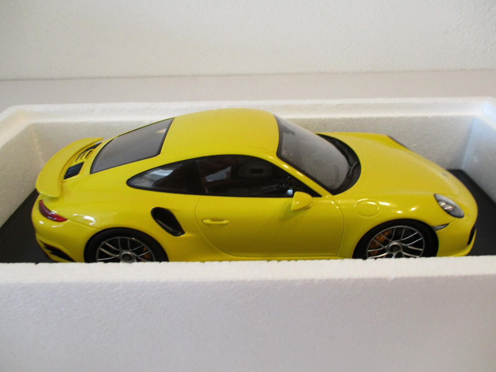 (Modelage) 1 18 18 18 Spark Porsche 911 Turbo S Racing jaune Neuf neuf dans sa boîte e17c70