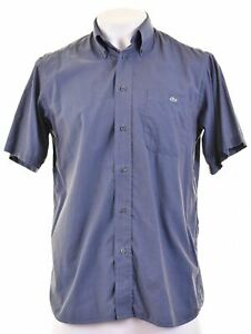 LACOSTE-Mens-Shirt-Short-Sleeve-Size-40-Medium-Blue-Cotton-JO09