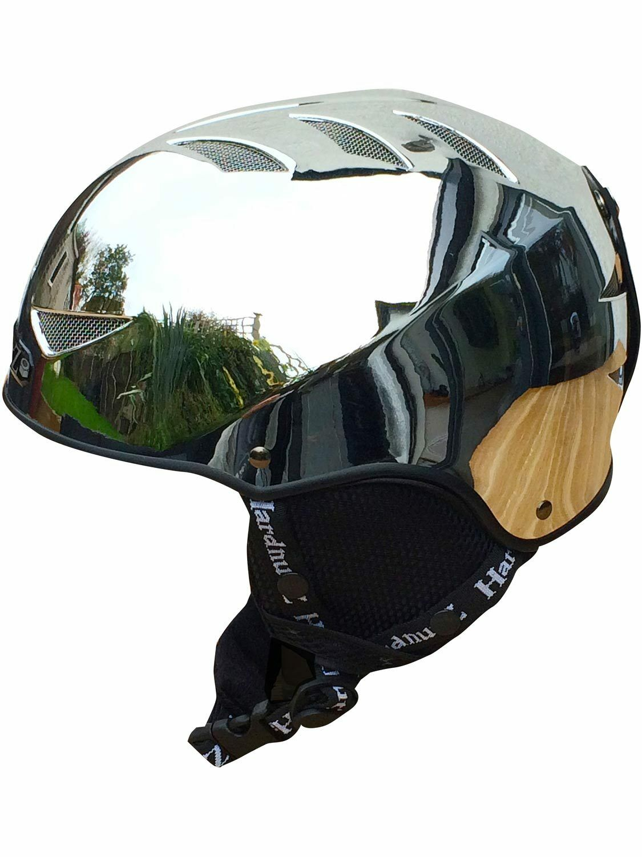 Hardnutz Ski Ski Hardnutz Helmet Grau Adult & Kids Größes Auto Chrome Helmet Snowboard New 90c06a