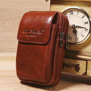 0798154e9e2c Men Leather Cell Phone Case Cover Waist Bag Clip Belt Loop Holster ...