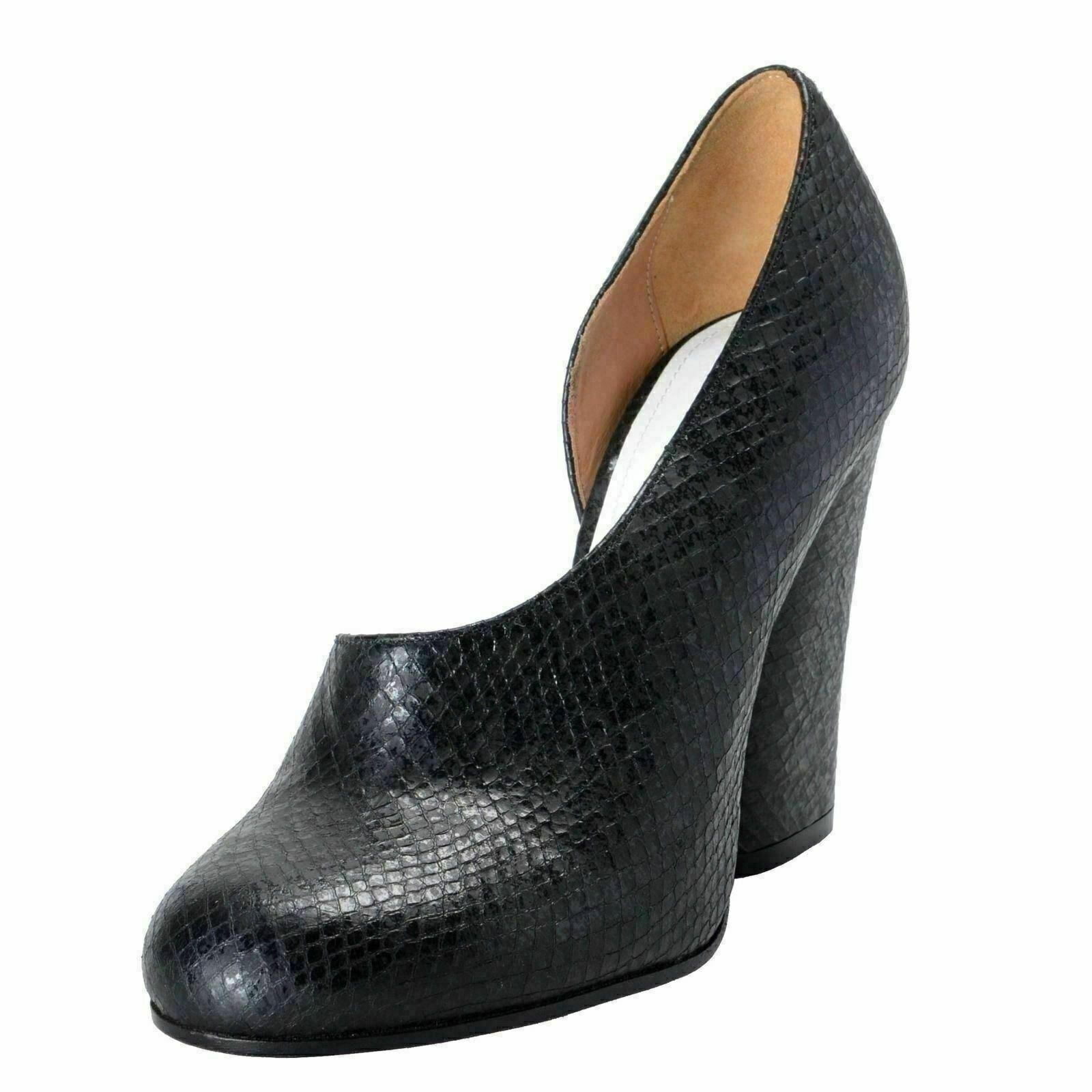 Maison Margiela 22 Women's Snake Print Black Pumps High Heels shoes US 6 IT 37