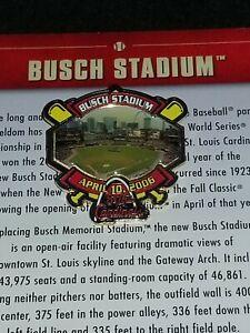 WILLABEE-amp-WARD-BUSCH-STADIUM-ST-LOUIS-CARDINALS-MLB-BASEBALL-PIN-W-CARD