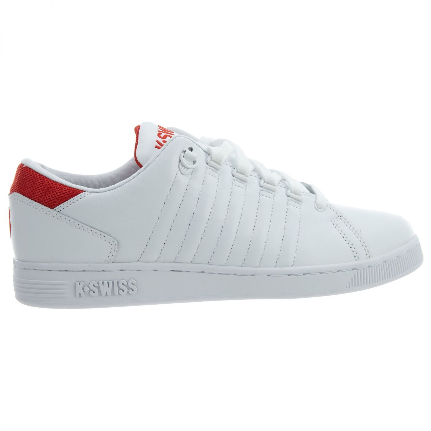 K-Swiss Lozan III TT Mens 05398-164 White Red Leather Athletic shoes Size 10