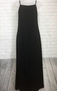 Sp Jill Women's Spaghetti J Rayonpolyester jurk Black Maat Strap Maxi hrstdCQ