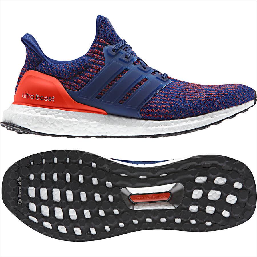 Adidas Ultra Boost 3.0 Mystery Ink Blue Orange Knicks Size 8.5. S82020 . nmd pk
