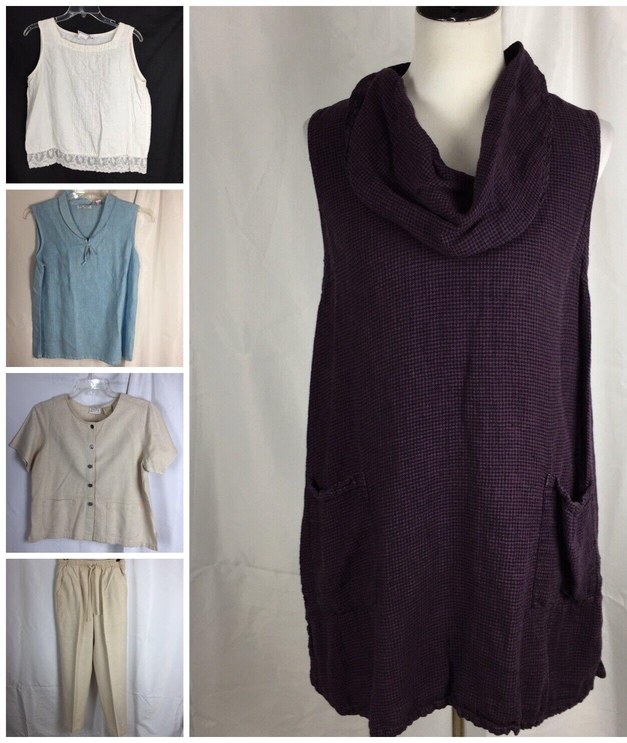 Lot 5 damen Medium M Linens Blends Includes Hot Cotton Erika March Point Gingha