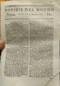 1779-NOTIZIE-DEL-MONDO-GENERALE-WASHINGTON-GUERRA-STATI-UNITI-TURCO-ALBANESE
