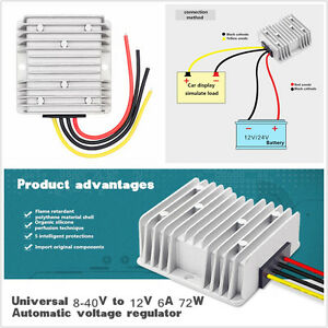 Waterproof Car Power Supply Voltage Stabilizer Automatic