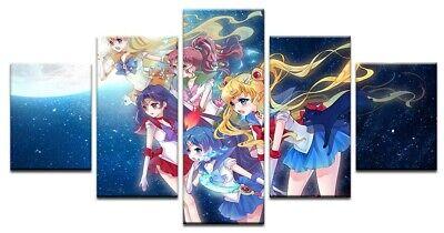 Sailor Moon Usagi Tsukino Silver Crystal 5 Piece Manga Anime Canvas Art Print