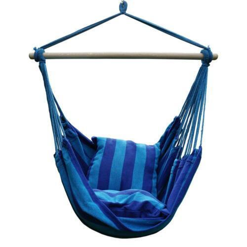 Hammock Hanging Rope Chair Porch Swing Yard Garden Patio Seat w// Pillows Camping